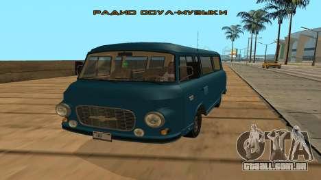 Barkas B1000 para GTA San Andreas esquerda vista