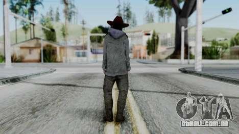 Carl Grimes from The Walking Dead para GTA San Andreas terceira tela