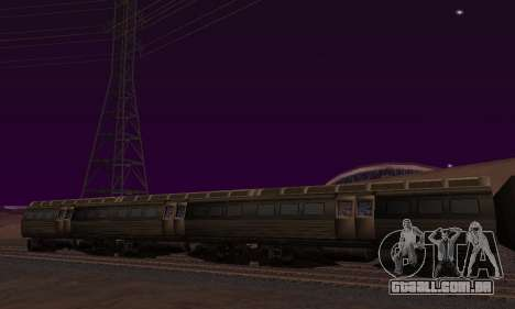 Batman Begins Monorail Train Vagon v1 para GTA San Andreas esquerda vista