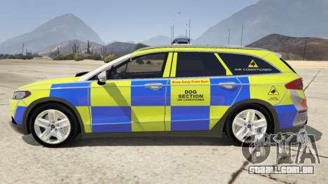 GTA 5 2014 Police Ford Mondeo Dog Section vista lateral esquerda