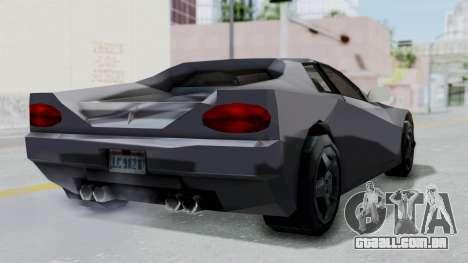 GTA LCS Cheetah para GTA San Andreas vista direita