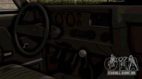 Chevrolet El Camino SS 1970 Monster Truck para GTA San Andreas vista direita