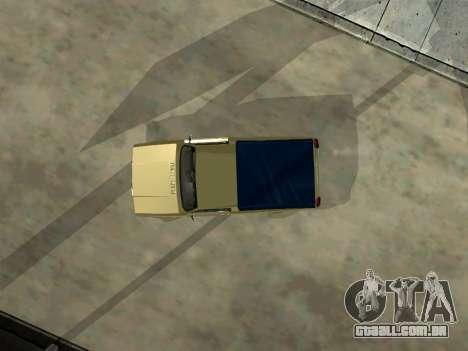 VAZ 2104 de Captação de para GTA San Andreas vista interior