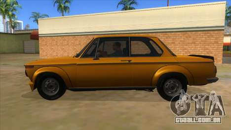 1974 BMW 2002 turbo v1.1 para GTA San Andreas esquerda vista