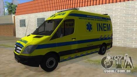 Mercedes-Benz Sprinter INEM Ambulance para GTA San Andreas