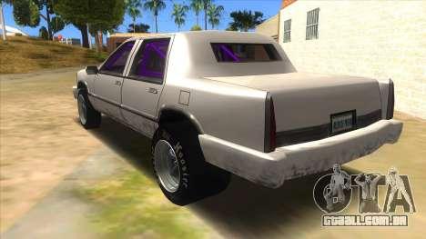 Stretch Sedan Drag para GTA San Andreas traseira esquerda vista