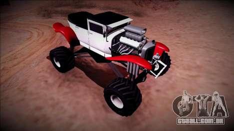 GTA 5 Albany Franken Stange Monster Truck para GTA San Andreas vista traseira