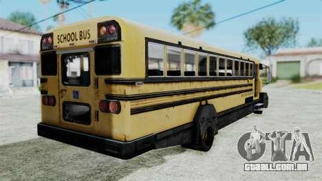 Armored School Bus para GTA San Andreas esquerda vista