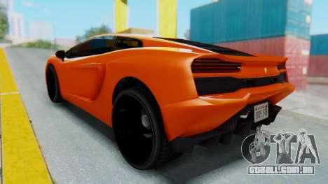 GTA 5 Pegassi Vacca IVF para GTA San Andreas traseira esquerda vista