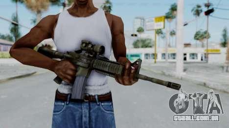 Arma2 M4A1 CCO Camo para GTA San Andreas terceira tela