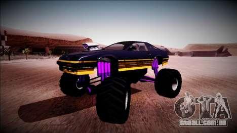 GTA 5 Imponte Ruiner Monster Truck para GTA San Andreas vista interior
