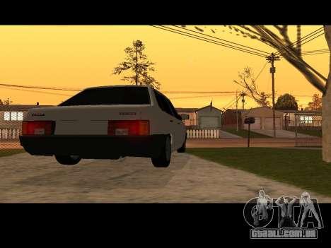 VAZ 21099 Carro Sem rede de Aterragem para GTA San Andreas traseira esquerda vista