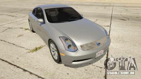 Infiniti G35 para GTA 5