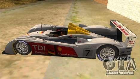 Audi R10 para GTA San Andreas esquerda vista