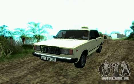 VAZ 2107 de Táxi para GTA San Andreas
