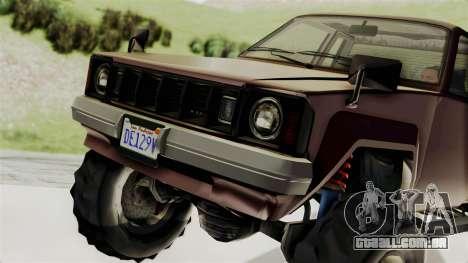 GTA 5 Karin Technical Cleaner IVF para GTA San Andreas vista direita