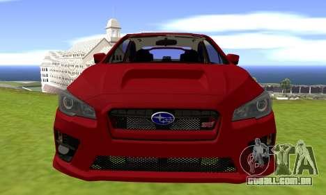 Subaru WRX STI 2015 para GTA San Andreas vista direita
