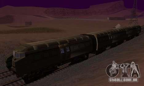 Batman Begins Monorail Train Vagon v1 para GTA San Andreas traseira esquerda vista