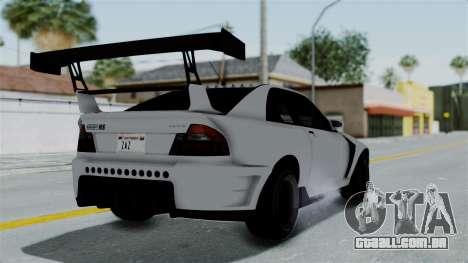 GTA 5 Karin Sultan RS Drift Double Spoiler PJ para GTA San Andreas esquerda vista