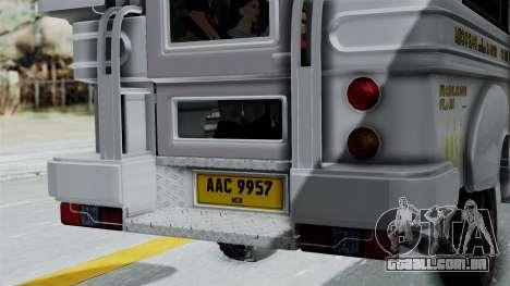 Jeepney Philippines para GTA San Andreas vista interior