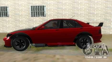 GTA V Karin Sultan RS 4 Door para vista lateral GTA San Andreas