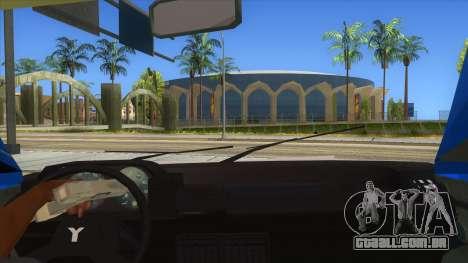 Yugo Koral Police para GTA San Andreas vista interior