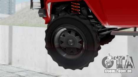 GTA 5 Karin Rebel 4x4 para GTA San Andreas traseira esquerda vista