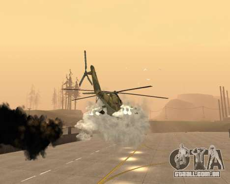 Um Mi-24 De Crocodilo para GTA San Andreas vista inferior