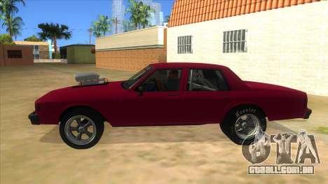 1984 Chevrolet Impala Drag para GTA San Andreas esquerda vista