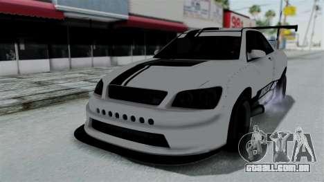 GTA 5 Karin Sultan RS Drift Double Spoiler PJ para GTA San Andreas vista superior