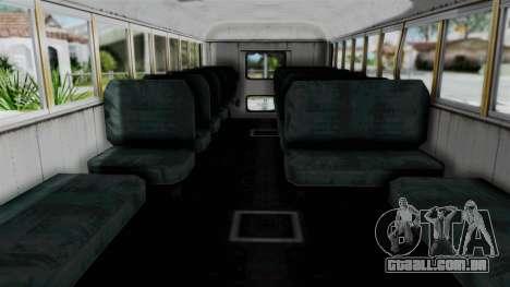 Armored School Bus para GTA San Andreas vista direita