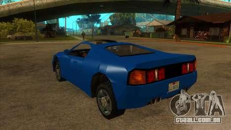 GTA LCS Deimos SP para GTA San Andreas traseira esquerda vista