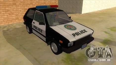 Yugo GV Police para GTA San Andreas vista traseira