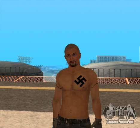 Derek Vinyard: American history X para GTA San Andreas segunda tela