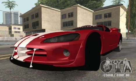 Dodge Viper Competition Coupe para GTA San Andreas vista direita