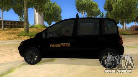Fiat Multipla FAKETAXI para GTA San Andreas esquerda vista