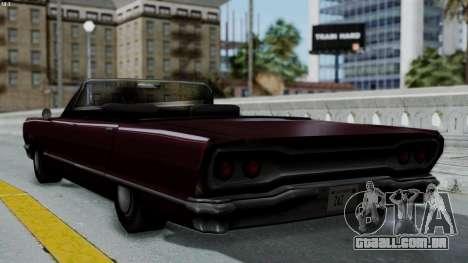 Savanna Gold Digger para GTA San Andreas esquerda vista