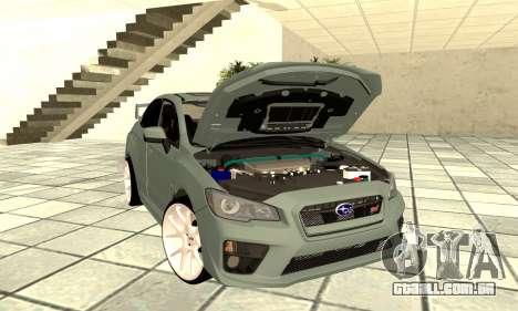 Subaru WRX STI 2015 para GTA San Andreas vista traseira