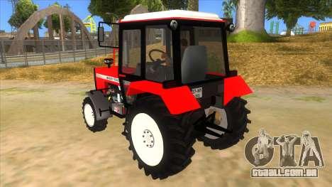Massley Ferguson Tractor para GTA San Andreas traseira esquerda vista