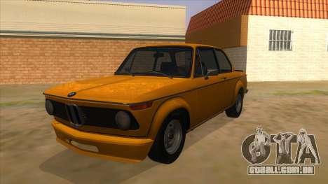 1974 BMW 2002 turbo v1.1 para GTA San Andreas