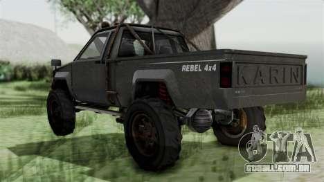 GTA 5 Karin Rebel 4x4 Worn IVF para GTA San Andreas esquerda vista