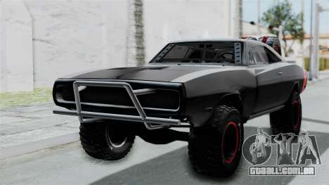 Dodge Charger 1970 Off Road  F&F7 para GTA San Andreas vista traseira