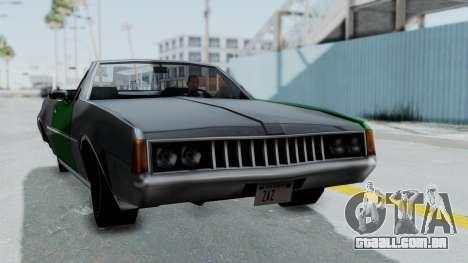 Clover Cabrio para GTA San Andreas traseira esquerda vista