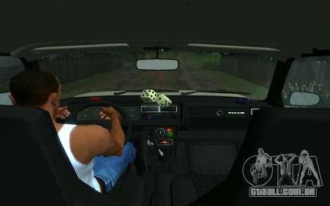 VAZ 2107 de Táxi para GTA San Andreas traseira esquerda vista