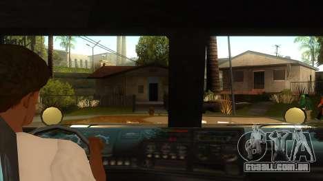 GTA V HVY Barracks Semi para GTA San Andreas vista interior