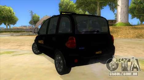 Fiat Multipla FAKETAXI para GTA San Andreas traseira esquerda vista
