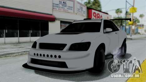 GTA 5 Karin Sultan RS Drift Double Spoiler PJ para GTA San Andreas