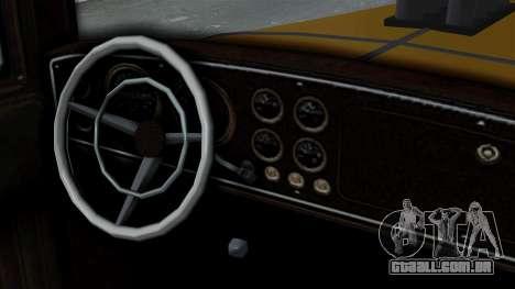 GTA 5 Albany Roosevelt Valor IVF para GTA San Andreas traseira esquerda vista