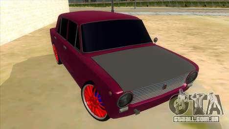 VAZ 2101 Cão para GTA San Andreas vista traseira