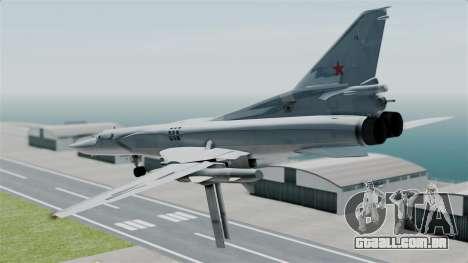 TU-22M3 para GTA San Andreas vista direita
